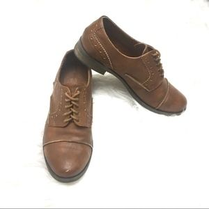 Crown vintage brown leather oxfords